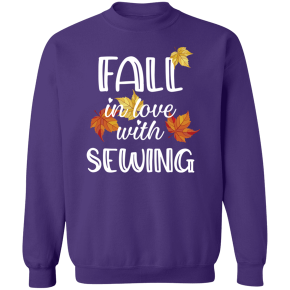 Fall in Love with Sewing Crewneck Pullover Sweatshirt