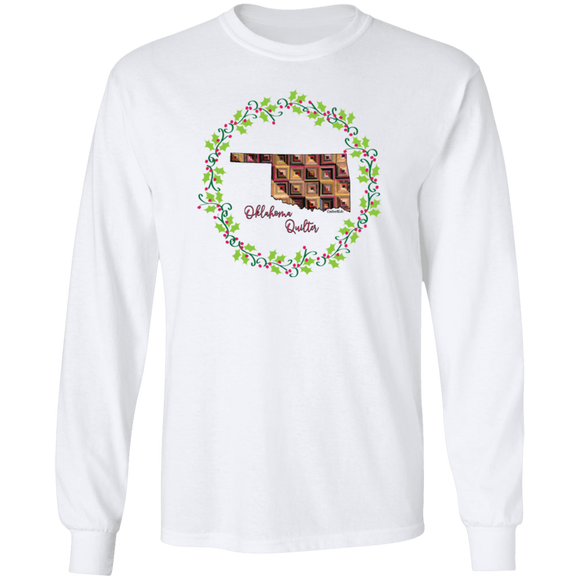 Oklahoma Quilter Christmas LS Ultra Cotton T-Shirt