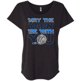 May the Yarn be with You Ladies Triblend Dolman Sleeve