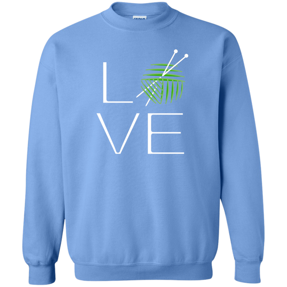 LOVE Knitting Crewneck Pullover Sweatshirt
