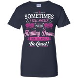 Put the Knitting Down Ladies Custom 100% Cotton T-Shirt - Crafter4Life - 6