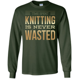 Time Spent Knitting Long Sleeve Ultra Cotton T-Shirt - Crafter4Life - 2