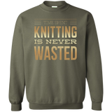 Time Spent Knitting Crewneck Sweatshirt - Crafter4Life - 8