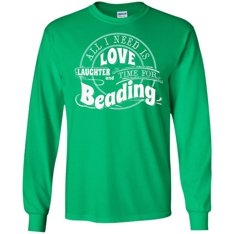 Time for Beading Long Sleeve Ultra Cotton T-Shirt - Crafter4Life - 1
