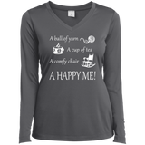 A Happy Me Ladies Long Sleeve V-neck Tee - Crafter4Life - 6