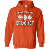 I Am Happiest When I Crochet Pullover Hoodies - Crafter4Life - 6