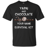 Yarn and Chocolate Survival Kit - Personalized Unisex T-Shirts