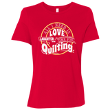 Time for Quilting Ladies Relaxed Jersey Short-Sleeve T-Shirt