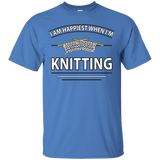 I Am Happiest When I'm Knitting Custom Ultra Cotton T-Shirt - Crafter4Life - 10