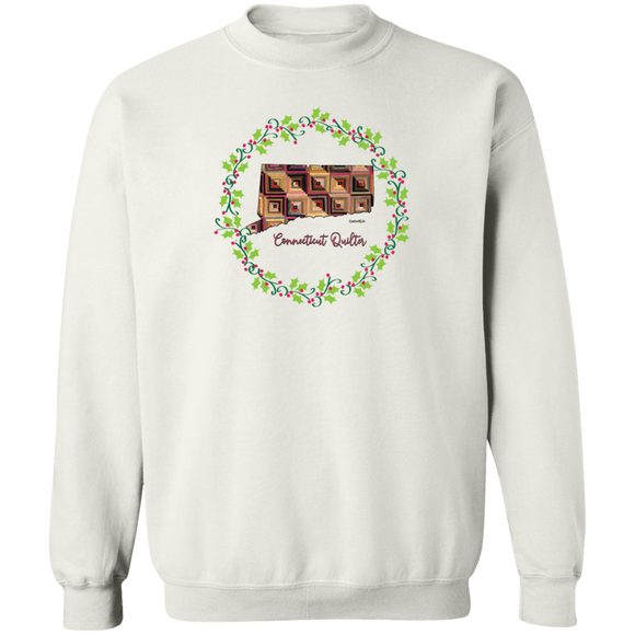 Connecticut Quilter Christmas Crewneck Pullover Sweatshirt