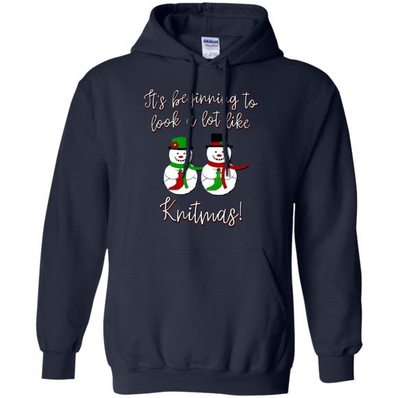 Knitmas Snow Couple Pullover Hoodie