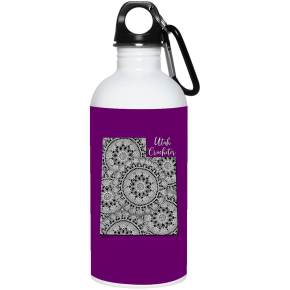 Utah Crocheter 20 oz. Stainless Steel Water Bottle