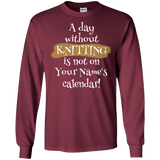 A Day Without Knitting - Personalized Unisex T-Shirts