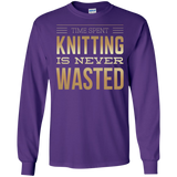Time Spent Knitting Long Sleeve Ultra Cotton T-Shirt - Crafter4Life - 7