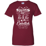 Scrapbookers Don't Lie Ladies Custom 100% Cotton T-Shirt - Crafter4Life - 3