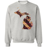 Michigan Quilter Crewneck Pullover Sweatshirt