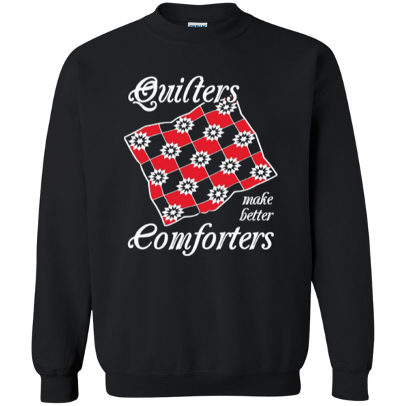 Quilters Make Better Comforters Crewneck Sweatshirts - Crafter4Life - 1