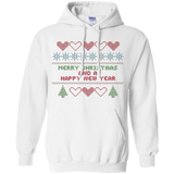Cross Stitch Christmas Sampler Pullover Hoodie