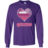 Heart Quilting Long Sleeve Ultra Cotton T-Shirt - Crafter4Life - 6