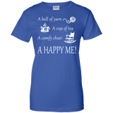 A Happy Me Ladies Custom 100% Cotton T-Shirt - Crafter4Life - 7