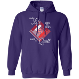 Make a Quilt (red) Pullover Hoodies - Crafter4Life - 7