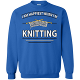 I Am Happiest When I'm Knitting Crewneck Sweatshirts - Crafter4Life - 10