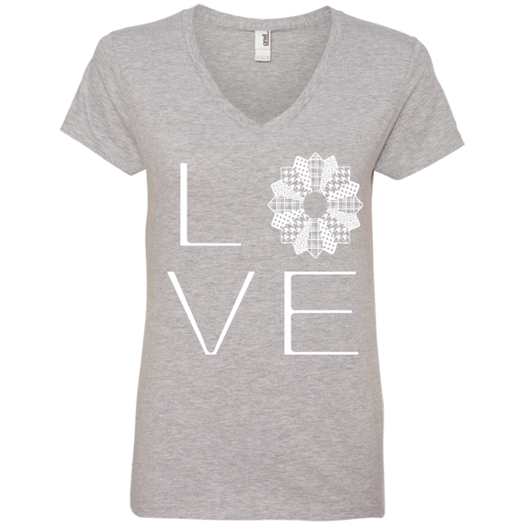 LOVE Quilting Ladies V-Neck Tee - Crafter4Life - 1
