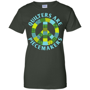 Quilters are Piecemakers Ladies Custom 100% Cotton T-Shirt - Crafter4Life - 1