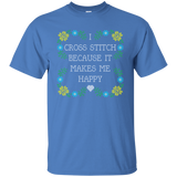 I Cross Stitch Because It Makes Me Happy Custom Ultra Cotton T-Shirt - Crafter4Life - 7