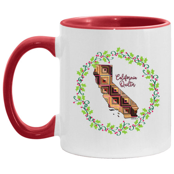 California Quilter Christmas Accent Mug
