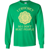 I Crochet So I Don't Hurt People Long Sleeve Ultra Cotton T-Shirt - Crafter4Life - 5