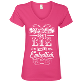 Scrapbookers Don't Lie Ladies V-neck Tee - Crafter4Life - 4