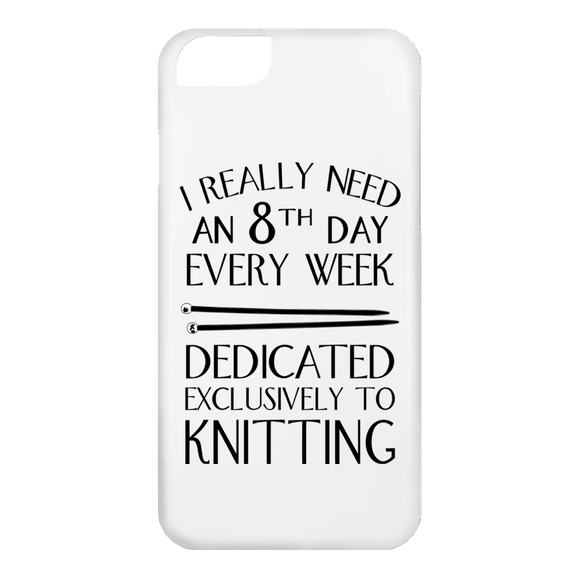8th Day For Knitting iPhone Cases