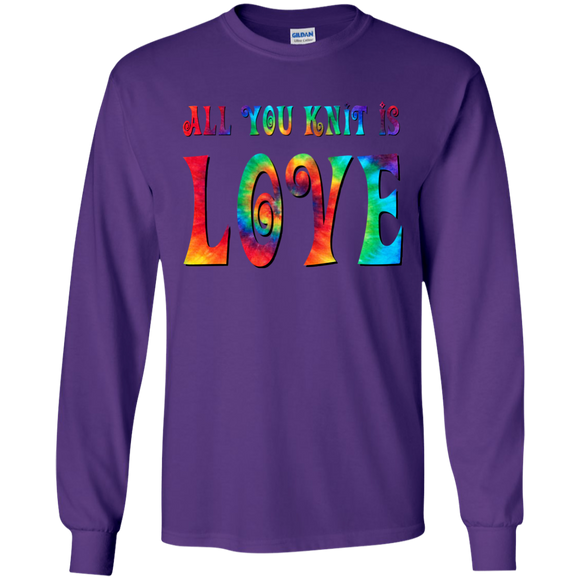 All You Knit is Love LS Ultra Cotton T-Shirt