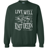 Knit Often Crewneck Pullover Sweatshirt