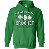 I Am Happiest When I Crochet Pullover Hoodies - Crafter4Life - 3