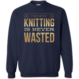 Time Spent Knitting Crewneck Sweatshirt - Crafter4Life - 4