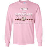 Yarn and Chocolate LS Ultra Cotton T-Shirt
