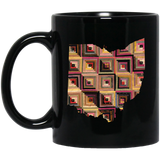 Ohio Quilter Black Mugs