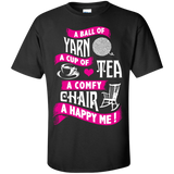 A Ball of Yarn, A Happy Me Custom Ultra Cotton T-Shirt - Crafter4Life - 2