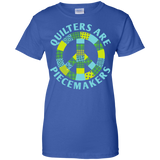 Quilters are Piecemakers Ladies Custom 100% Cotton T-Shirt - Crafter4Life - 12