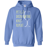 Pet Cat-Drink Wine-Knit Pullover Hoodie