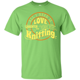 Time for Knitting (yellow) Custom Ultra Cotton T-Shirt - Crafter4Life - 5