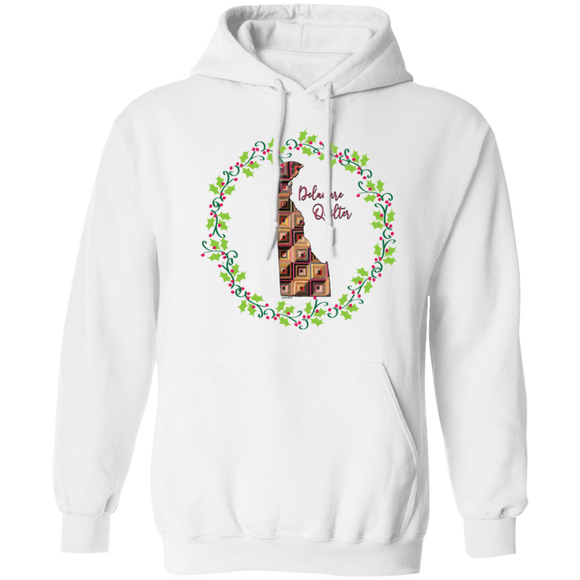Delaware Quilter Christmas Pullover Hoodie