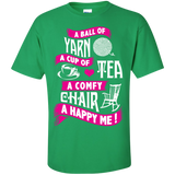 A Ball of Yarn, A Happy Me Custom Ultra Cotton T-Shirt - Crafter4Life - 4