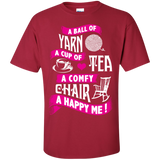A Ball of Yarn, A Happy Me Custom Ultra Cotton T-Shirt - Crafter4Life - 5