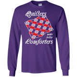 Quilters Make Better Comforters Long Sleeve Ultra Cotton T-Shirt - Crafter4Life - 9