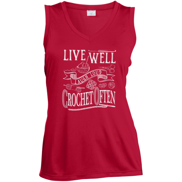 Crochet Often Ladies Sleeveless V-neck - Crafter4Life - 1
