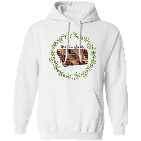 Montana Quilter Christmas Pullover Hoodie