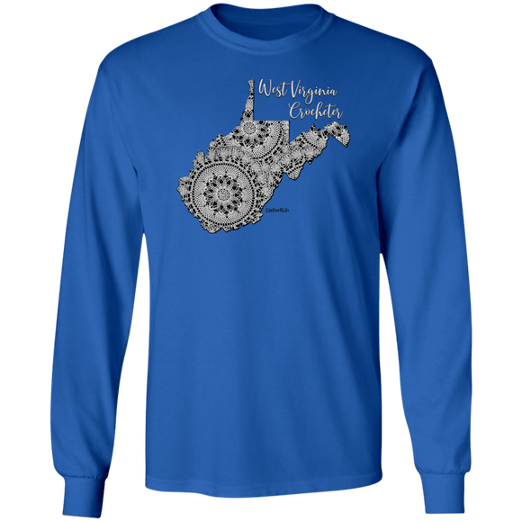 West Virginia Crocheter LS Ultra Cotton T-Shirt
